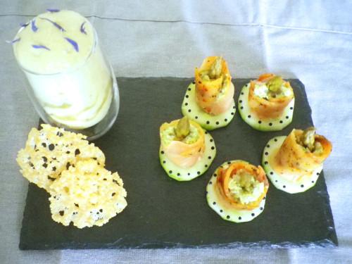 Carpaccio de saumon au Risotto et sa mousse d'Asperge (Concours Ducasse)