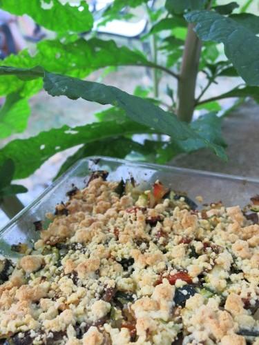Crumble aux légumes et anchois de Cantabrie !