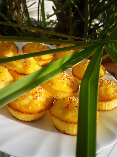 Cupcake à l'eau de fleur d'oranger et lemon curd