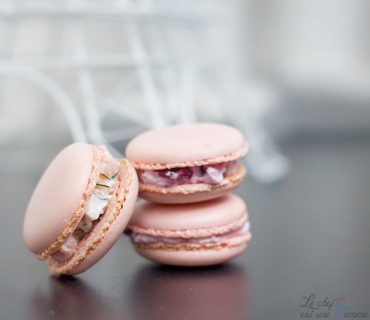 Macarons salés (meringue italienne) / Partage avec « Le chef est une femme »