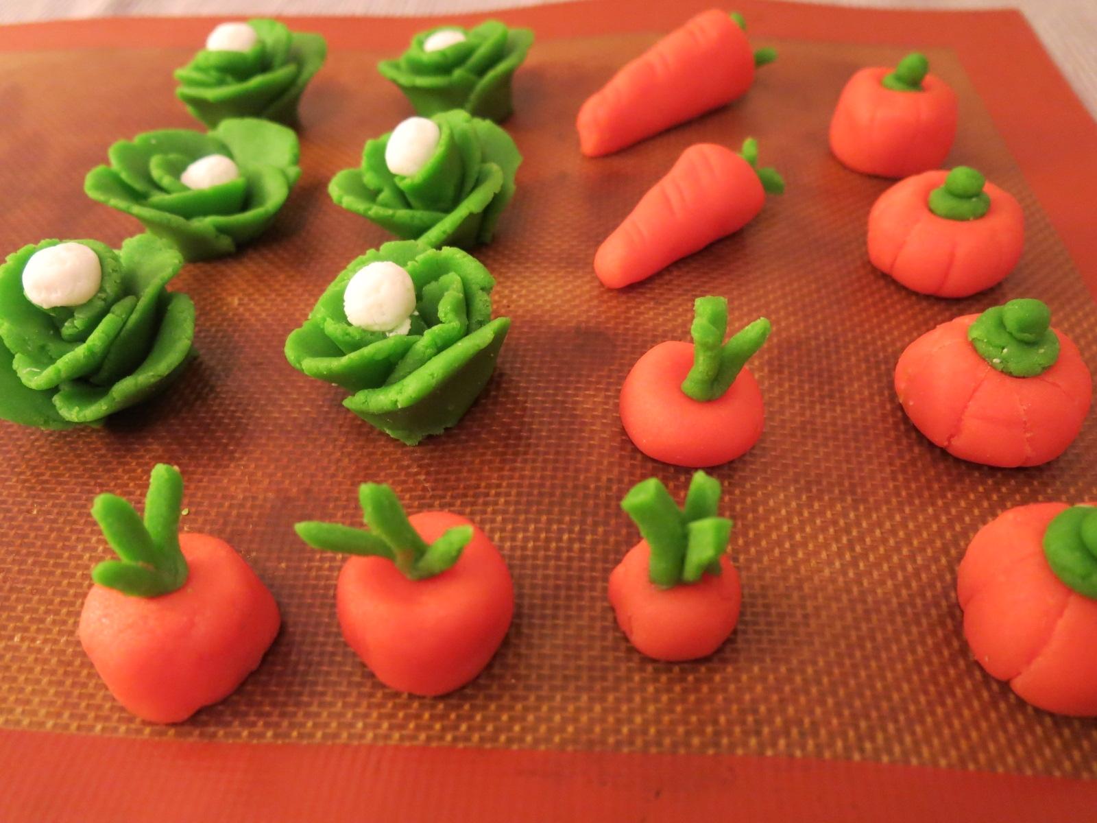 Comment faire des petits légumes en pâte d'amande?