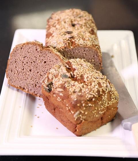 Pain sans gluten (farine de châtaigne et de riz)
