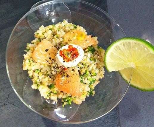 Quinoa aux agrumes et Apérivrais en verrine
